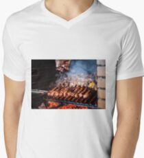 Barbecue Men's V-Neck T-Shirt