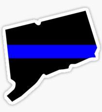 Thin Blue Line - Connecticut - Blue Lives Matter Graphic Sticker