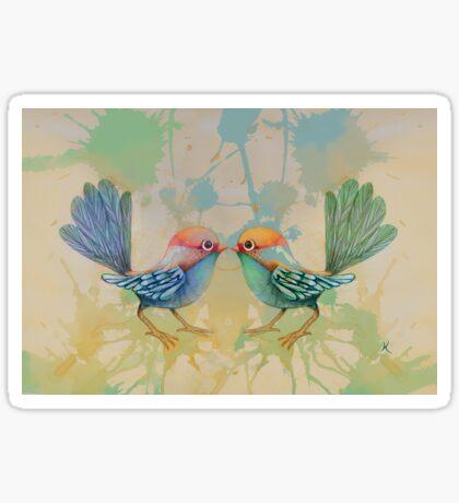 little love birds blue Sticker