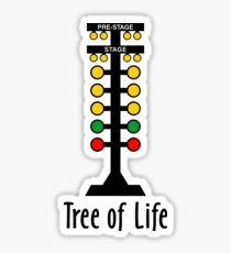 Drag Racing Tree of Life Sticker