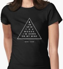 Woods -- Bon Iver Women's Fitted T-Shirt