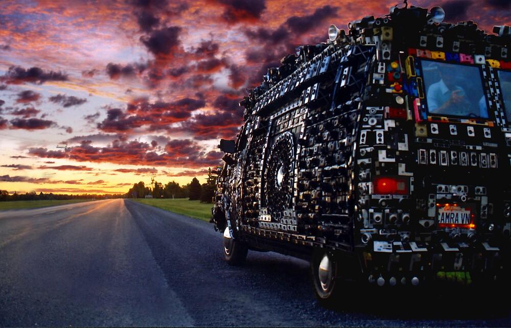 camera van at sunrise by timcnally