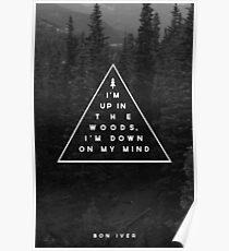 Woods -- Bon Iver Poster