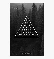 Woods -- Bon Iver Photographic Print