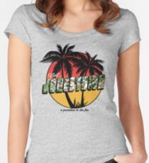 A Paradise to Die For Women's Fitted Scoop T-Shirt