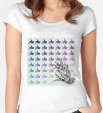Green Birds Women's Fitted Scoop T-Shirt
