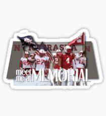 Meet Me at Memorial UNL Football Sticker