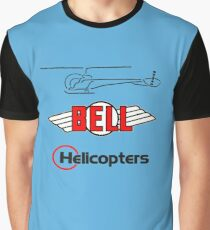 Retro Bell 47 Helicopter Graphic T-Shirt