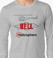 Retro Bell 47 Helicopter Long Sleeve T-Shirt