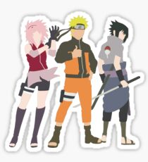 Naruto Silhouette - Team 7 Sticker