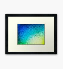 Blurred Green Blue Background With Flowers Framed Print