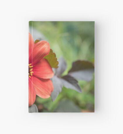 A Peachy Dahlia Hardcover Journal