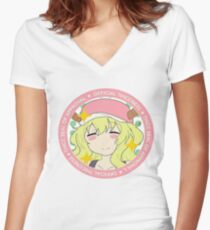Dragon Maid Thickness Women's Fitted V-Neck T-Shirt