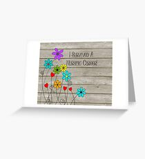 retired nurse funny quote greeting card