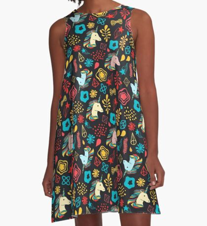 Unicorn party A-Line Dress