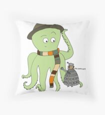 Doctorpus Who Throw Pillow