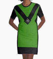 You + Royal Green Graphic T-Shirt Dress