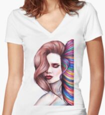 Creativity Is Contagious Women's Fitted V-Neck T-Shirt