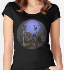 Dancing Skeletons Women's Fitted Scoop T-Shirt