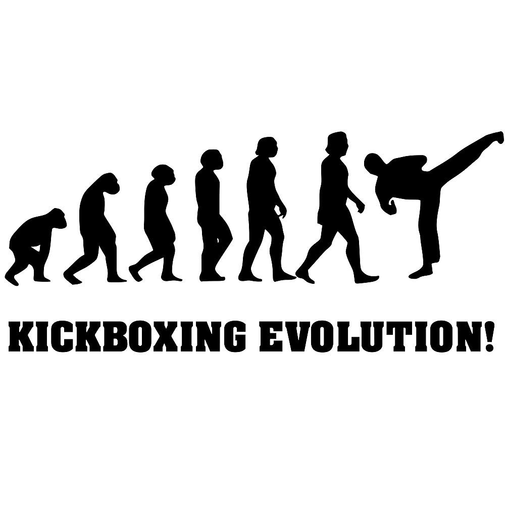Kickboxing Evolution , Geschenk für Kickboxer by DesignArts