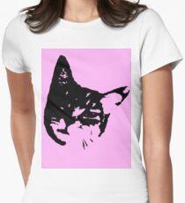 Pink Kitty Head T-Shirt