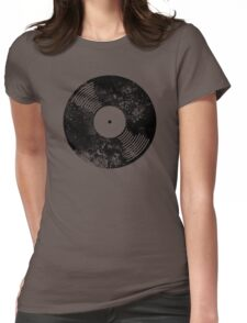 Distressed Faded Vinyl Womens Fitted T-Shirt