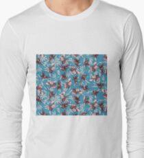 iris orchid japanese patter T-Shirt