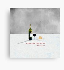 Cake and a Glass of Wne Canvas Print