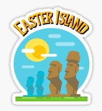 Easter Island Statues Moai Polynesian Chile Tiki Sticker