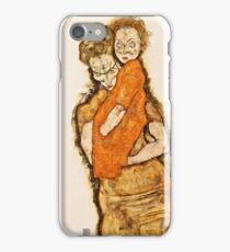 Egon Schiele - Mother And Child (1914) iPhone Case/Skin