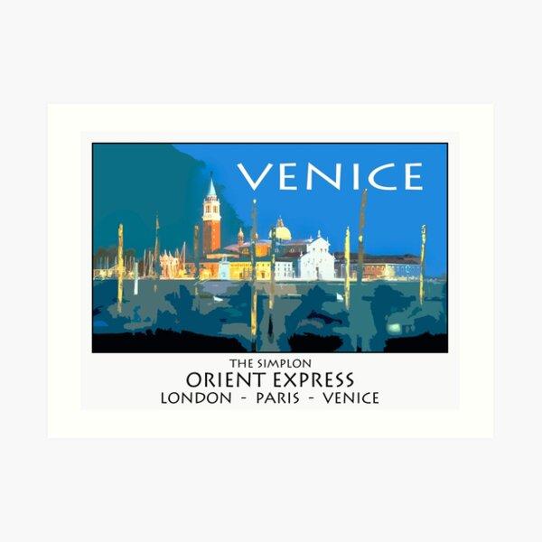Vintage travel poster - Venice Art Print