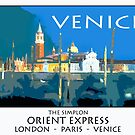 Vintage travel poster - Venice by Stephen Knowles
