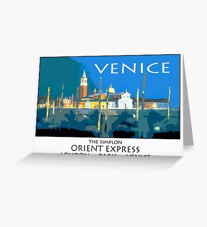 Vintage travel poster - Venice Greeting Card