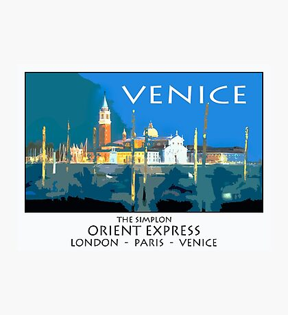 Vintage travel poster - Venice Photographic Print