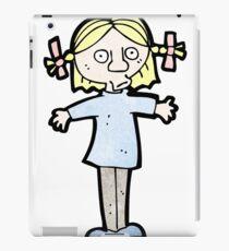 cartoon surprised blond girl iPad Case/Skin