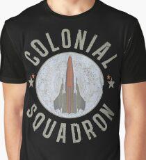 Battlestar Galactica Colonial Squadron classic TV Graphic T-Shirt