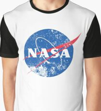 Distressed NASA Logo Graphic T-Shirt