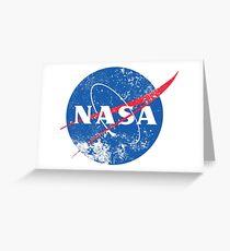 Distressed NASA Logo Greeting Card