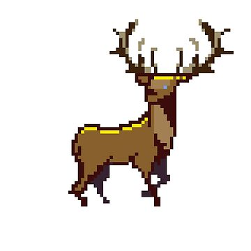 Pixel Stag (Individual) by MonkeyKnot