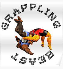 Grappling Beast (Jaguar vs Ape) Poster