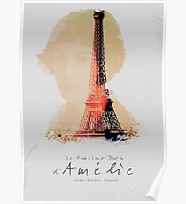 Amélie, Fine Art print, Jean-Pierre Jeunet, Audrey Tatou, giclee French movie poster, old classic cinema, Amelie Poster