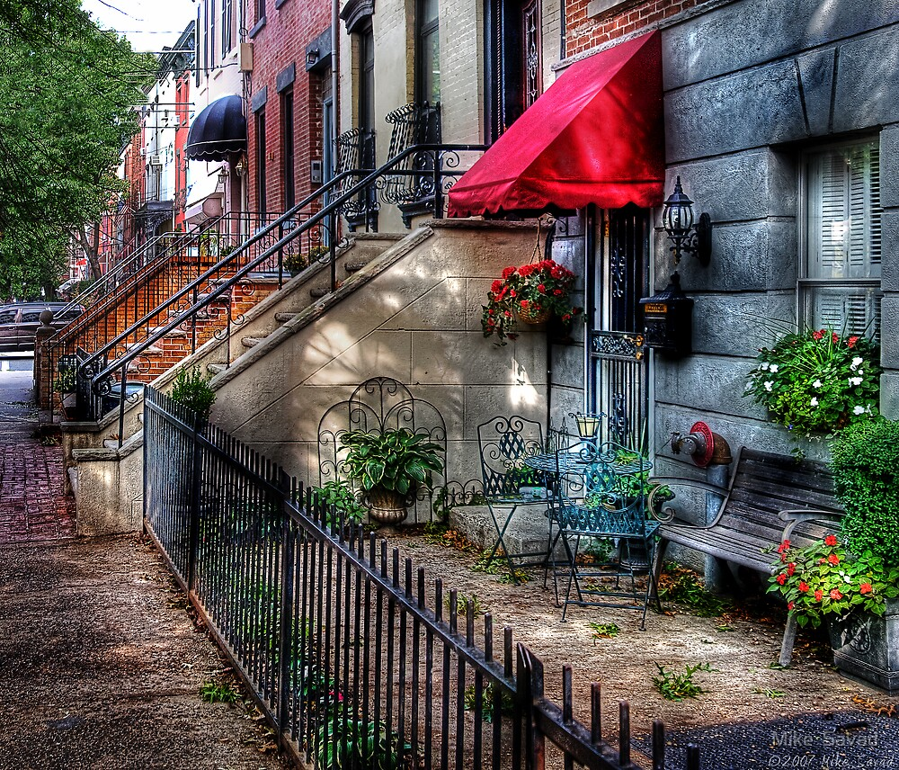 The Red Awning by Michael Savad