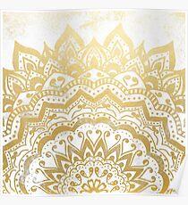 GOLD ORION JEWEL MANDALA Poster