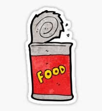 cartoon canned food Sticker