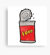 cartoon canned food Canvas Print