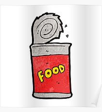 cartoon canned food Poster