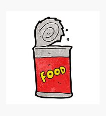 cartoon canned food Photographic Print