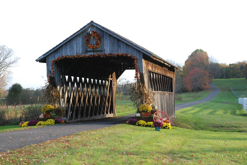 Colorful Covered Bridge, Suffield CT by bunnij