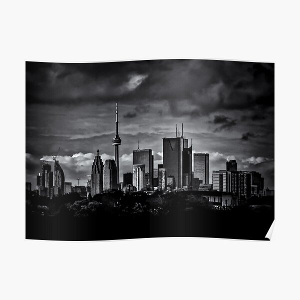 Toronto Skyline From The Pape Ave Bridge No 2 Poster