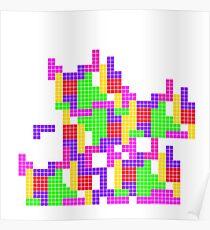 Tetris Game Inspired Design Poster